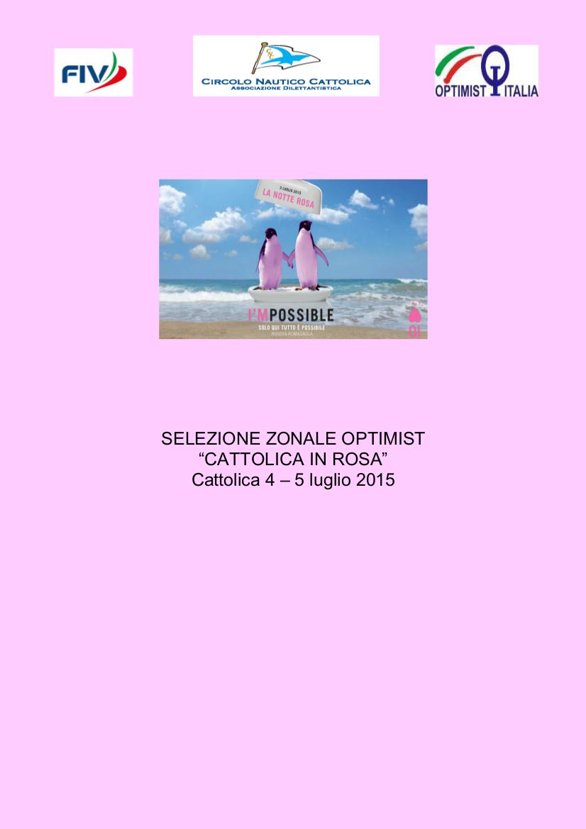 IMMAGINE ZONALI OPTIMIST 2015