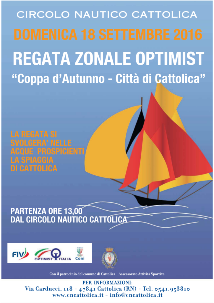 Regata Zonale Optimist 2016