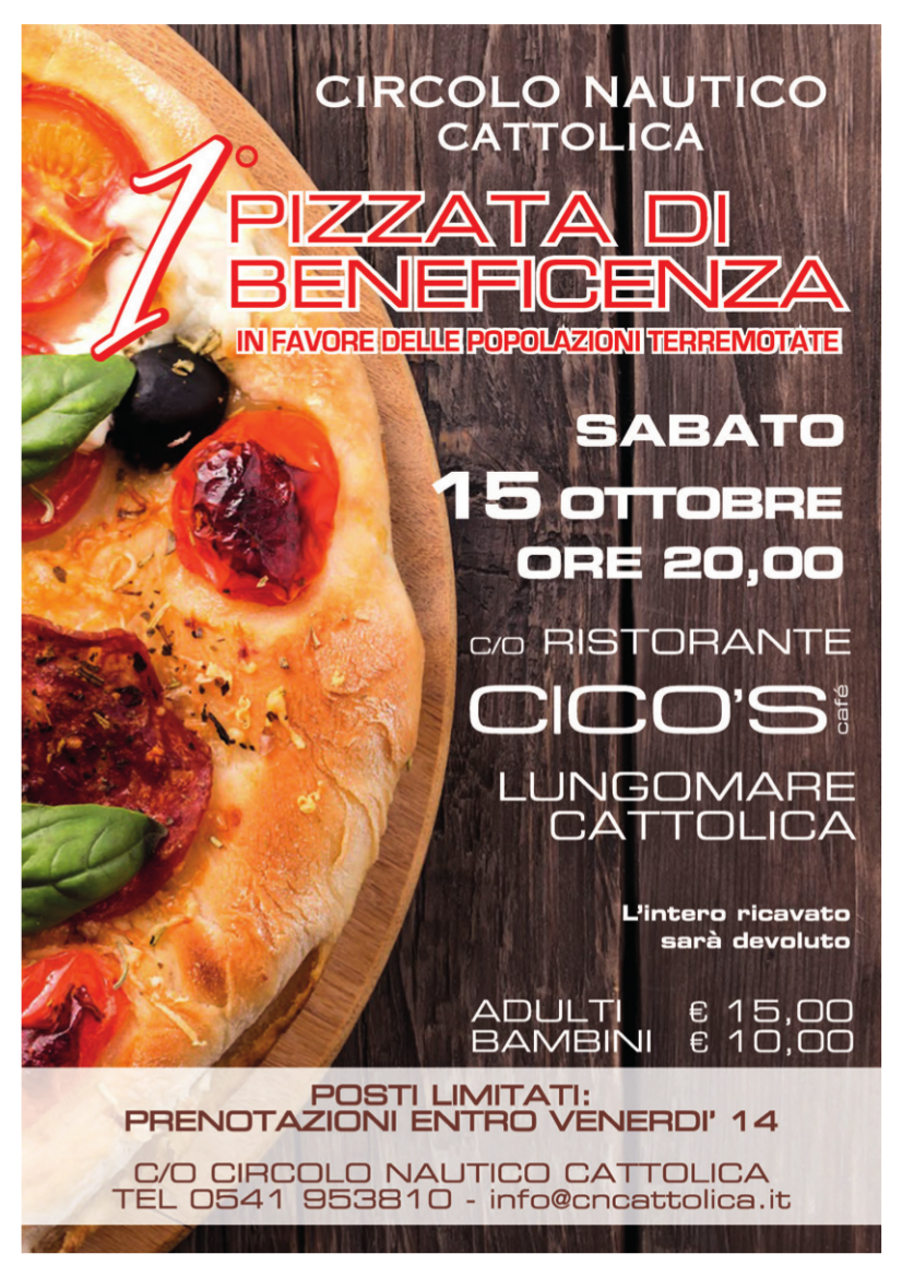 Pizzata beneficenza